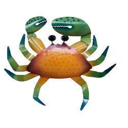 T.I. Design Orange Crab Wall Art