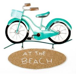 T.I. Design Metal At The Beach Bike Wall Art