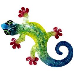 T.I. Design 18'' Gecko Metal Wall Art