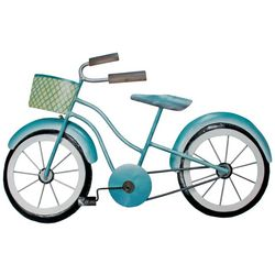 T.I. Design Beach Bicycle Metal Wall Art