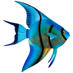 T.I. Design Angel Fish Metal Wall Art