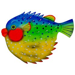 T.I. Design Large Porcupinefish Metal Wall Art
