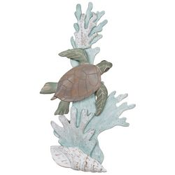 T.I. Design Sea Turtle Swimming Reef Metal Wall Art