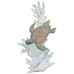 T.I. Design Sea Turtle Reef Metal Wall Art