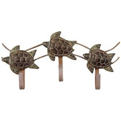 T.I. Design Triple Sea Turtle Wall Hook