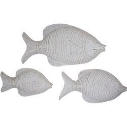 T.I. Design 3-pc. White Wash Fish Wall Art Set
