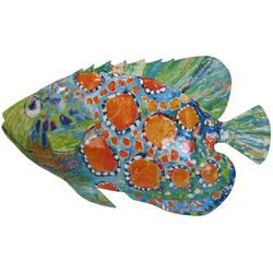 Leoma Lovegrove Princess Julienne Fish Metal Wall Art