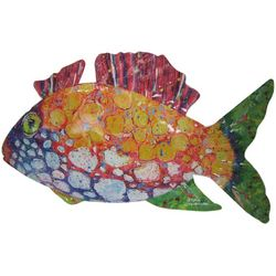 Leoma Lovegrove Trigger Pinky Fish Metal Wall Art