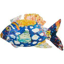 Leoma Lovegrove Spotted Blue Metal Fish Wall Art