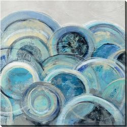 Streamline Art Variation Blue Grey III Canvas Wall Art