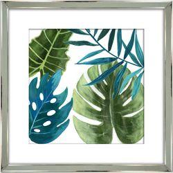 Streamline Art Tropical Leaves Framed Wall Art