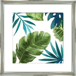 Streamline Art Tropical Leaves II Framed Wall Art
