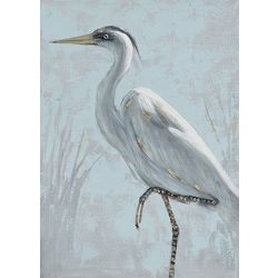 Streamline Art Posing Egret Canvas Wall Art