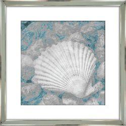 Streamline Art Blue Shell Framed Wall Art
