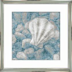 Streamline Art Blue Shell II Framed Wall Art