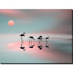 Streamline Art Family Flamingo Canvas Wall Art