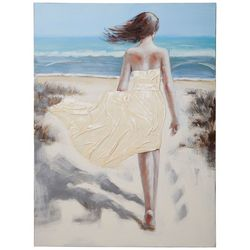 Streamline Art Barefoot Stroll Canvas Wall Art