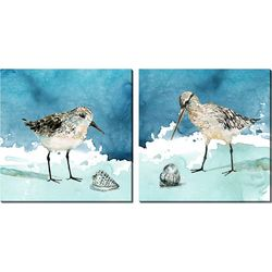 Streamline Art 2-pc. Shore Birds Canvas Wall Art Set