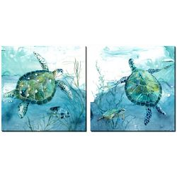 Streamline Art 2-pc. Sea Turtles Canvas Wall Art Set