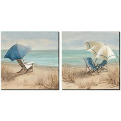 Streamline Art 2-pc. Summer Vacation Canvas Wall Art Set