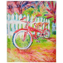 Leoma Lovegrove Pink Racer Canvas Wall Art
