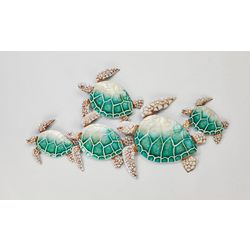 Coastal Home Sea Turtle Capiz Wall Art