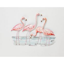 Coastal Home Flamingo Capiz Wall Art