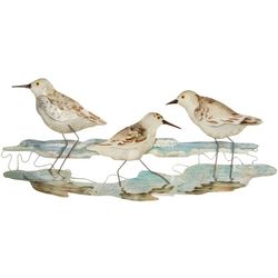 Coastal Home Sandpiper Capiz Wall Art