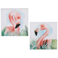 Picture Depot 2-pc. Watercolor Flamingo Canvas Wall Art