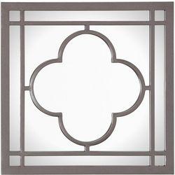 J. Hunt Grey Quatrefoil Walll Mirror