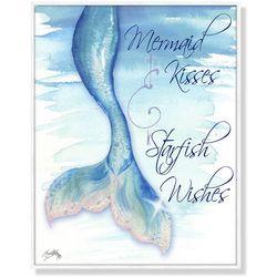 Palm Island Home Mermaid Kisses Framed Art
