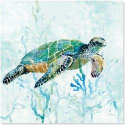 Palm Island Home Sea Turtle Swim I Wall Art