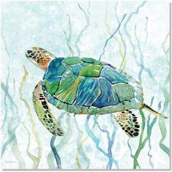 Palm Island Home Sea Turtle Swim II Wall Art