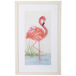 Palm Island Home Flamingo Framed Art