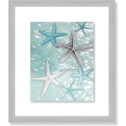 Palm Island Home Starfish Bubbles Framed Art