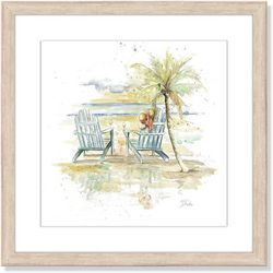 Palm Island Home Happy Place Framed Art