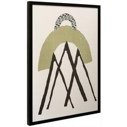 StyleCraft Abstract Geometric Print Framed Wall Art