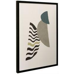 StyleCraft Abstract Geometric Circle Framed Wall Art