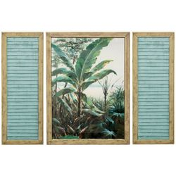StyleCraft 3-pc. Palm Beach Window Wall Art