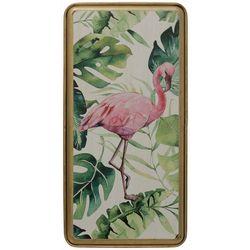StyleCraft Flamingo Tray Metal Wall Art