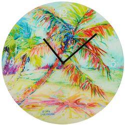 Leoma Lovegrove 16'' Palms Away Wall Clock