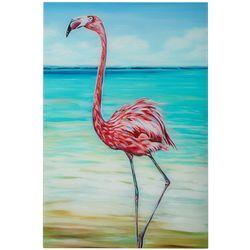 Empire Direct Beach Walker Flamingo Tempered Glass Wall Art