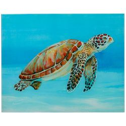 Empire Direct Ocean Sea Turtle Tempered Glass Wall Art