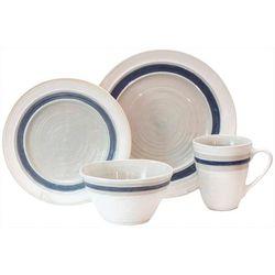 Baum Rustic Stripe White 16-pc. Dinnerware Set