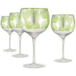 Artland 4-pc. Tropical Leaves Gin Glass Set