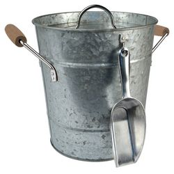 Artland Oasis Galvanized Steel Ice Bucket & Scoop