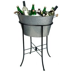 Artland Oasis Galvanized Oval Party Tub & Stand