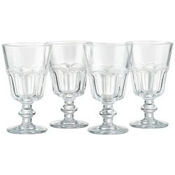 Artland Pearl Ridge 4-pc. Retro Wine Goblet Set