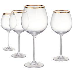 Artland Gold Band 4-pc. Burgundy Wine Goblet Set