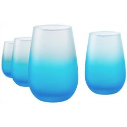 Artland Frost Shadow 4-pc. Stemless Wine Goblet Set
